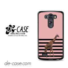 Giraffe Pink Art For LG G3 Case Phone Case Gift Present YO