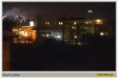 Stod, 1.1.2016. Krátce po půlnoci. Foto Pavel Dolejš.