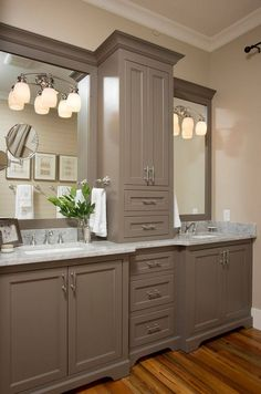 Utilize Your Single Bathroom Vanity! – Bathroom Vanity Tips Bathroom Styling, Bathroom Vanity Designs, Bathrooms Remodel, Double Vanity Bathroom, Bathroom Farmhouse Style, French Country Bathroom, Bathroom Design, Vanity Design, Small Bathroom Remodel