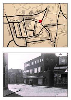De Kalenderstraat bestaat nog steeds echter dit deel is verdwenen. Foto genomen vanaf de Kalanderstraat in zuidelijke richting met rechts de Willemstraat, links de Alsteedsestraat. Het grote pand is meubelzaak van de fa. J.A. Schoo welke later verhuisde naar de Raadhuisstraat.