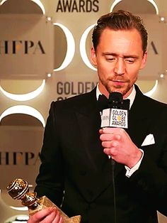 """""""Congratulations, @twhiddleston! He is taking home the Best Actor in a Television Movie or Miniseries tonight. #GoldenGlobes """" https://twitter.com/goldenglobes/status/818303934754213888"""