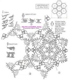Crochet Diagram, Crochet Motif, Crochet Stitches, Crochet Patterns, Crochet Ideas, Lace Doilies, Crochet Doilies, Crochet Flowers, Love Crochet