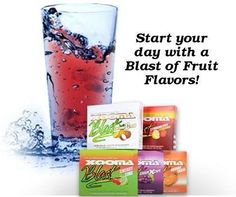 """Xooma Blast! Xooma Blast, Now you can transform your water with a """"blast"""" of flavor while you provide powerful antioxidant protection for your entire body. Available in five delicious flavors, (Strawberry-Lemonade, Grape Xcape, Orange Crave, Cherry-Lime, and Coconut Crush) Xooma BLAST comes in small portable drink sticks that are easy to carry, fit perfectly in a pocket or purse and are ready to use when you are. Order Blast at http://www.lastinglifestylechange.com/blast.html"""