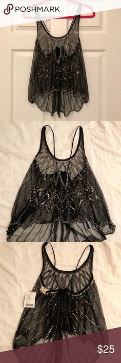 Selling this Urban Outfitters Beaded Top on Poshmark! My username is: jackiejay22. #shopmycloset #poshmark #fashion #shopping #style #forsale #Urban Outfitters #Tops