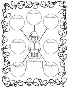 graphic organizer about their elf (their personal elf, class elf, or made-up one)