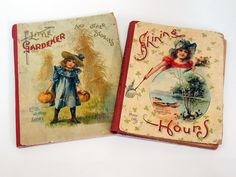 2 x 1900s Children's Books Beautiful Victorian Illustration Cats Dogs Well Loved Perfect Decor Art Supplies by KentonCollectibles on Etsy