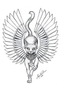 Egyptian Goddess Bastet most commonly associated with cats, hints the cat face. - Egyptian Goddess Bastet most commonly associated with cats, hints the cat face. Egyptian Cat Tattoos, Egyptian Cats, Egyptian Symbols, Egyptian Mythology, Egyptian Tattoo Sleeve, Egyptian Goddess Tattoo, Bastet Goddess, Egyptian Drawings, Isis Goddess