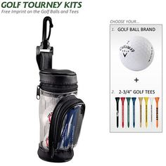 Promotional Golf Gift Set: Ball Bag Kit with Tees | Customized Golf Tournament Kits