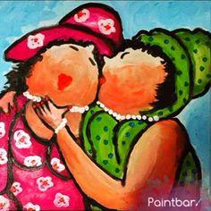 SPOILER ALERT - binnenkort kun je deze dikke vriendinnen schilderen bij Paintbar #hetcreatieveavondjeuit #paintbar #dikkevriendinnen #happy #fun  #schilderenmetwijnisfijn #paintbarnederland