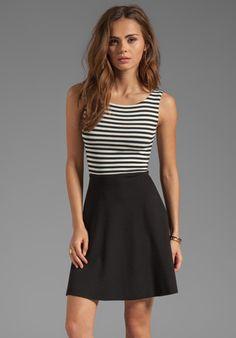 8740f22ca5 BAILEY 44 Udon Dress in Black Creme Minimal Fashion