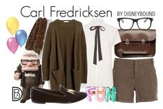 """Carl Fredricksen"" by leslieakay ❤ liked on Polyvore featuring Aspesi, L.L.Bean, Maje, Madewell, Kate Spade, Giuseppe Zanotti, STELLA McCARTNEY, disney, disneybound and pixar"