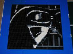 Darth Vader Lego Mosaic instructable