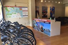 San Francisco City Bike Rental Rent a bike at the bicycle rental shop nearest to the Golden Gate Bridge in San Francisco. Bike along waterfront paths and across the Golden Gate Bridge to Sausalito, where you can return by ferry (ticket is your own expense). A helmet, lock, and map are all included with your rental.Pick up your bike, helmet, lock, and a map at the rental shop in the Marina District of San Francisco, located within 3 miles (4.8 km) of the Palace of Fine Arts, Cr...