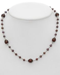 HONORA Silver 4.5-9mm Pearl Necklace