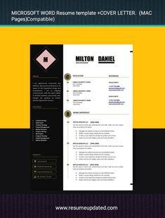 Modern Cv Template, Modern Resume, Resume Design, Professional Resume, My Etsy Shop, Templates, Lettering, Resume Maker Professional, Stencils