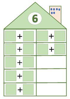 School Frame, I School, Second Grade Math, First Grade, Math Resources, Activities For Kids, Number Writing Practice, Subitizing, Montessori Math