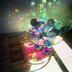 I want it SO BAD. Sparkling glass table!