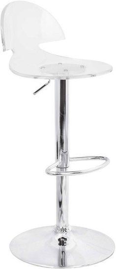 acrylic adjustable bar stool - could work at breakfast bar