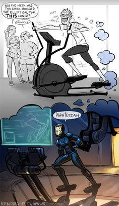 """Silly Fan Comic Art Pacific Rim....oh my gosh SERIOUSLY!!!!! Now whenever I'm on an exerciser I'm going to scream """"Today, we cancel the apocalypse!"""" Just sayin'"""