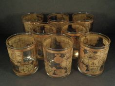 Barware collection cera old world map highball glasses man barware collection cera old world map rocks gumiabroncs Gallery