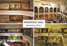 Woodfield Mall, Schaumburg, Illinois The world's largest mall in the 1970s