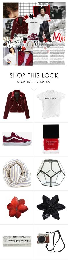 """""""happy bday harry! + TESTING TAGS // the glow of the cities below lead us back; ❤️"""" by sadtrashqueen ❤ liked on Polyvore featuring BLANKNYC, Vans, Butter London, HomArt, Clips, ASOS and Fuji"""