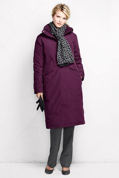 Women's Down Chalet Long Coat from Lands' End | Outerwear ...