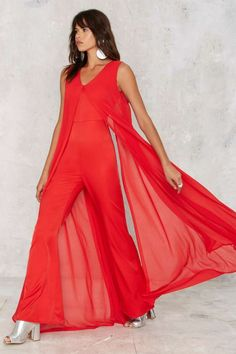 Lavish Alice Float On Flare Jumpsuit - Clothes | Rompers + Jumpsuits | Valentine's Day | Going Out | Midi + Maxi | Solid