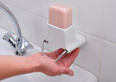 Bar soap is a lot less wasteful than liquid soap, but it's also less hygienic and slippery soap bars can get away from you. Soap Flakes are innovative soap graters designed to solve both problems by allowing bar soap to be dispensed onto your hand without having to touch the bar.