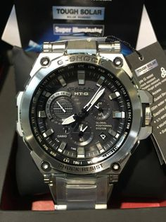 G-Shock MTG-G1000D-1A GPS Hybrid-2 Triple G, Stainless Steel Pipe, Solar Power System, Sapphire Pendant, G Shock, Men's Clothing, Watches, Accessories
