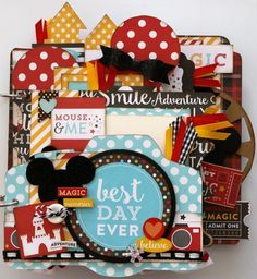 Mouse & Me mini scrapbooking kit from gogogirlscrapbooking. It features the Magical Adventures paper line by Echo Park