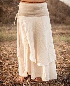 Wrap Skirt one size by PrimitiveTribalCraft on Etsy