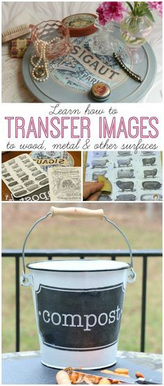 If you've ever wondered how to transfer photos to wood, here's a great tutorial. You can transfer photos, vintage graphics and other images you print to onto wood, metal or lots of other surfaces, too.