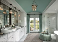 HGTV Dreamhome 2015 | Ethan Allen How about this for ceiling color in Master bath?