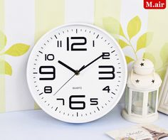 12Inch Stereo Mute Glow Wall Clock Plastic Wall Clock Modern Design 3D Creative Art Wall Watch