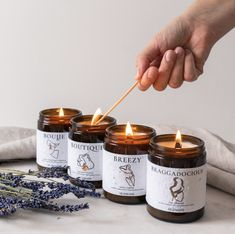 Aromatherapy Candles, Beeswax Candles, Scented Candles, Natural Candles, Best Candles, Candle Labels, Candle Jars, Essential Oils For Anxiety, Vegan Candles
