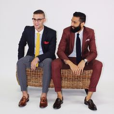 Men's fashion. Bold pants. Bold suit. Usually hate yellow clothing, but digging this tie