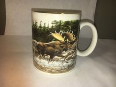 A personal favorite from my Etsy shop https://www.etsy.com/listing/509161983/vintage-collectible-bull-elk-wldlife-mug