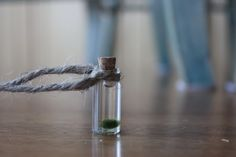 marimo necklace with pirate rope, unique cute necklace, unique jewelry. $8.99, via Etsy.