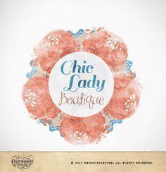 Gorgeous    Custom Premade Boutique Logo Design - Chic Lady Floral Design for Boutiques. $34.90, via Etsy.