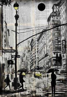 """Saatchi Art Artist Loui Jover; Drawing, """"one day in N.Y."""" #art"""