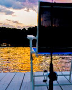 Lake Gaston LKG North Carolina Fishing Sunset