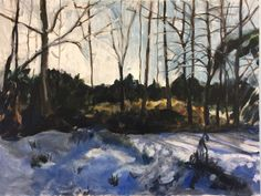 Winter Morning Oil painting by Domenica Brockman Landscape Paintings, Landscapes, Eagle, Meet, Sky, York, American, Winter, Artist