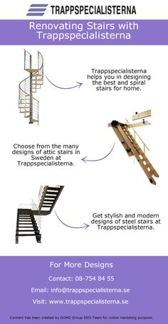 Trappspecialisterna is one name which you can trust in Sweden if you are thinking of renovating stairs. Once you give the job to Trappspecialisterna then you can only get the best designs of stairs.