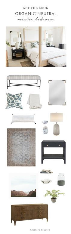 Organic neutral master bedroom - Studio McGee