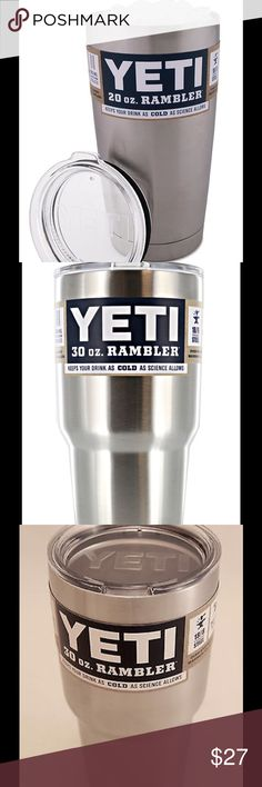 30 Oz Yeti rambler stainless steel cup Yeti Rambler cooler 30 OZ  stainless steel coffee mug. Every men or women must have Other