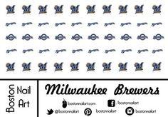 MLB - Milwaukee Brewers - Waterslide Nail Decals 50pc Boston Nail Art $4.00 http://www.amazon.com/dp/B00U8BUXJ4/ref=cm_sw_r_pi_dp_..03vb0Z07EH8