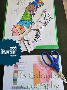 DIY Colonies Puzzle Map