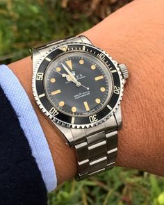 """lindenway: """"Going vintage for the weekend Rolex 5513 #rolex #rolex5513 #vintagewatch #rolexsubmariner #patina """""""