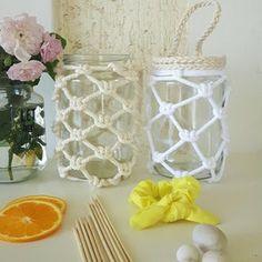 Video Tutorial Small Macrame Jar Pattern   Etsy Tips And Tricks, Kit, Macrame Projects, Garden Projects, Good Tutorials, Macrame Cord, Macrame Tutorial, Easy, Macrame Patterns